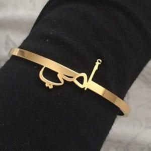 Custom Arabic Bracelet Personalized Name Bracelets For Women Stainless Steel Gold Bracelet Bangles Boho Jewelry Pulseras 1