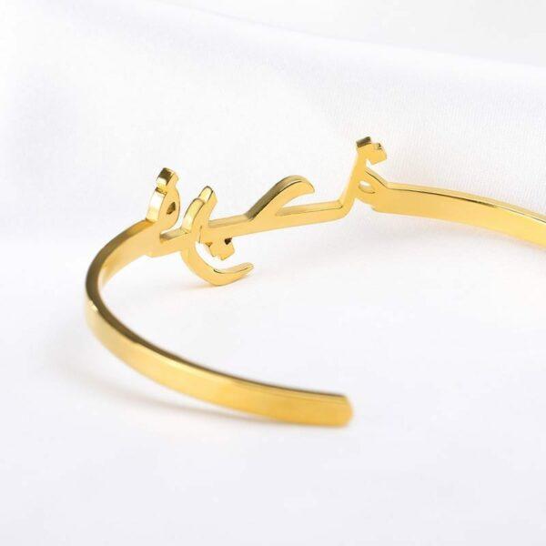 Custom Arabic Bracelet Personalized Name Bracelets For Women Stainless Steel Gold Bracelet Bangles Boho Jewelry Pulseras 3